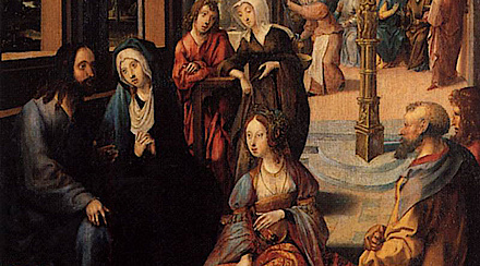 Christ in the House of Martha and Mary, Cornelius Engebrechtsz