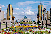 View of the Nurzhol Boulevard and President's Palace Acorda // GettyImages